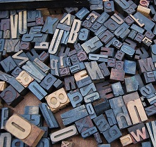 Letter Blocks used in Printing Process